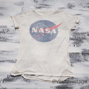 NASA Sheer Heathered Zoe + Liv T-Shirt Women's S